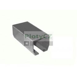 Vodící profil spodního vedení 70x60x3,5mm, L6(3)m, H/02-70x60-Zn, posuvné samonosné brány