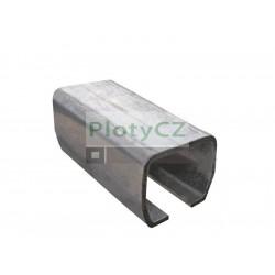 Vodící profil spodního vedení 136x142x6mm, L6(3)m, H/02-136x142-Zn, posuvné samonosné brány