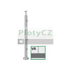 Sloupek nerezový k zábradlí D42,4/4xd12/H90cm, AISI304-A, VR90-4D12
