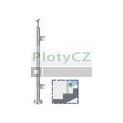 Sloupek nerezový D42,4/2x držák,v-100cm,VK-schod A