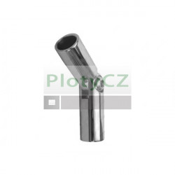 Spojka, koleno prutů, lesk AISI304, ±90°/d12/L70mm