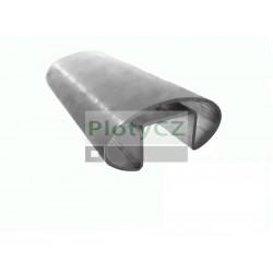 Nerezové U madlo - elipsa 80x33/33x25mm, AISI304, Umakov