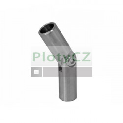 Koleno, nerezový přechod výplně AISI304, ±90°/d12/L70mm