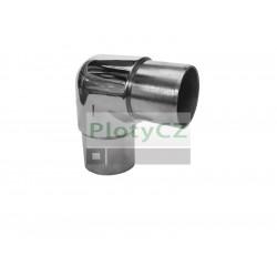 Nerezové lesklé koleno madla 90, zaoblené AISI304, D42, 4mm.