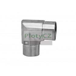 Nerezové ostré koleno madla zábradlí AISI304, 90°/D42,4mm