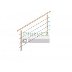 Zábradlí BUK, vrchní kotvení schodiště, L1500mm, H900mm, WB/ZVS90-1500