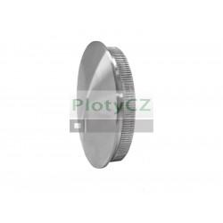 Nerezová záslepka madla zábradlí, plný materiál AISI304, D42,4x2,0/5mm