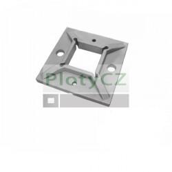 Příruba kotvící, čtvercová, AISI304, 100x100/40x40mm