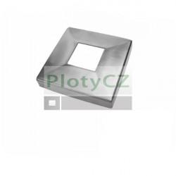 Rozeta, krytka velké patky, AISI304, 108x108/40x40mm