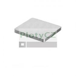 Příruba, záslepka nerezová, čtyřhranná AISI304,40x40, t4mm