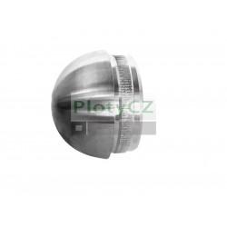 Nerezová záslepka madla půlkruhu nabíjecí D42,4x2mm, brusK320