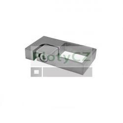 Boční kotvení AISI 304,40x40mm, nerezové
