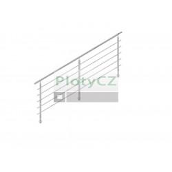 Zábradlí nerezové - sada, na schody, AISI304, D42,4/5xd12