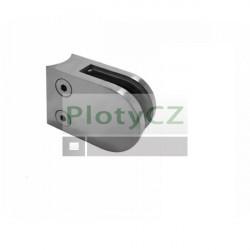 Držák skla oblý, AISI304, D42,4/63x45mm, nerez