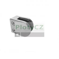 Nerezový, lesklý držák skla zábradlí, inox AISI304, 40x40x2/50x40mm
