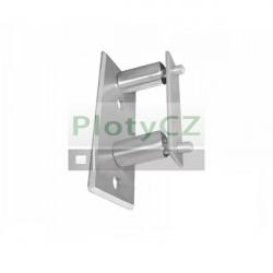 Boční obdélníkové kotvení zábradlí, 120x60x51/D42,4m, AISI 304