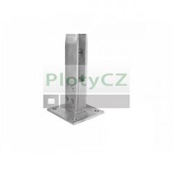 Sloupek pro vrchní kotvení skleněné výplně, 40x33/100x100/186mm, AISI304