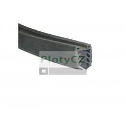 Těsnění k madlu na sklo 11,5-13,5mm, L2500mm, 24x24