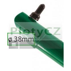 Poplastovaná vzpěra plotová UNI-BPL zelená Ø 38mm