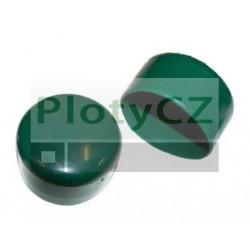 Čepička/klobouček ø 38mm, 48mm, 60mm na plotový sloupek PVC zelený