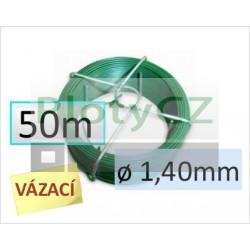 Vázací drát PVC 50m průměr drátu 1,40mm