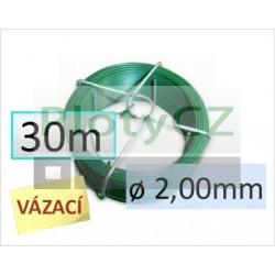 Vázací drát PVC 30m průměr drátu 2,00mm