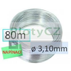 Napínací drát Zn 80m, ø 3,10mm