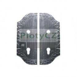 Štítek bránový, zdobený 265x105, t3, 90, d18,5mm, pár/sada