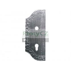 Štítek bránový zdobený,levý 265x105, t3, a90, d18,5mm