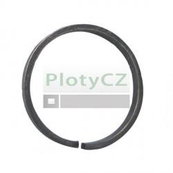 Kruh ozdobný D100, 12x6mm, kovaný pro ploty
