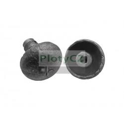Klika KOULE kovaná D60mm, d19mm, Fe, ozdobná, dveřní kování