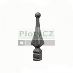 Kovaný výkovek ocelový polotovar, hrot h82, b20x20, n15x15mm