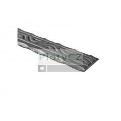 Ocelové madlo kované ozdobné a40, b5, L3000mm, (1,56 kg/m), Umakov