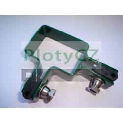 Rohová příchytka GALAXIA PVC k plotovému panelu, zelená, 40x60mm