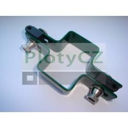 Průběžná příchytka GALAXIA PVC k plotovému panelu, zelená, 40x60mm