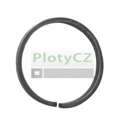 Kruh ozdobný D100, 12x12mm, kovaný pro ploty