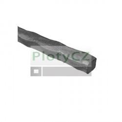 Čtvercová tyč 14x14mm, vhodná na kovaný plot, výplň zábradlí, a14, b14, L3000mm