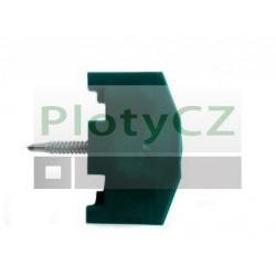 Příchytka panelu z PVC zelená pro sloupky 60x40mm
