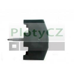 Příchytka panelu z PVC černá pro sloupky 60x40mm