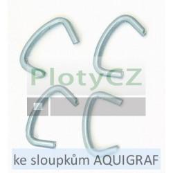 Spona Agrafes pro přichycení pletiv ke sloupkům AQUIGRAF