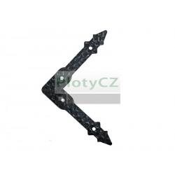 Dveřní okrasné kování 150x150, t3mm, černá lesklá barva