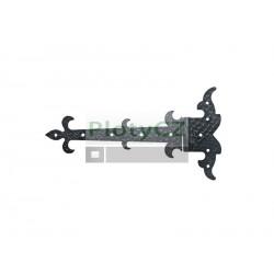 Kovaný pant dveřový 350x180, t3mm, pravý
