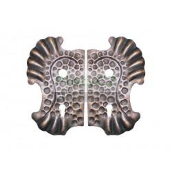 Štítek bránový, zdobený 275x160, t2, d18,5, 90mm, pár/sada