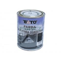 Barva na zinek-černá hladká satin, 1kg
