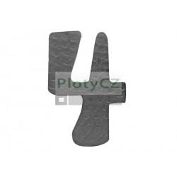 """Číslice """"4"""" h 120, t3mm"""