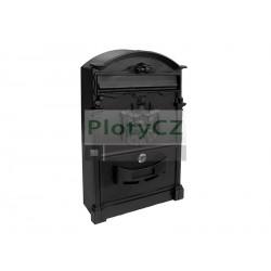 Poštovní schránka 255x410mm, Al, černá
