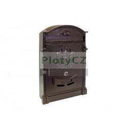 Poštovní schránka 255x410mm, Al, měděná