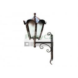 Závěsná lampa na stěnu 630xD330mm, patina, černá