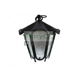 Závěsná lampa kovaná 360xD330mm, Fe, black