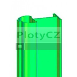Plotový profilový sloupek ATLANTIS zelený, k plotovým dílům GALAXIA, MERKUR
